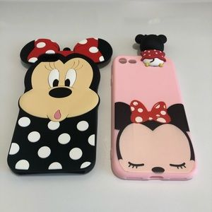 Two Minnie Mouse IPHONE 8 Rubber Cases!